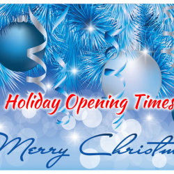 Christmas and New Year holiday opening times